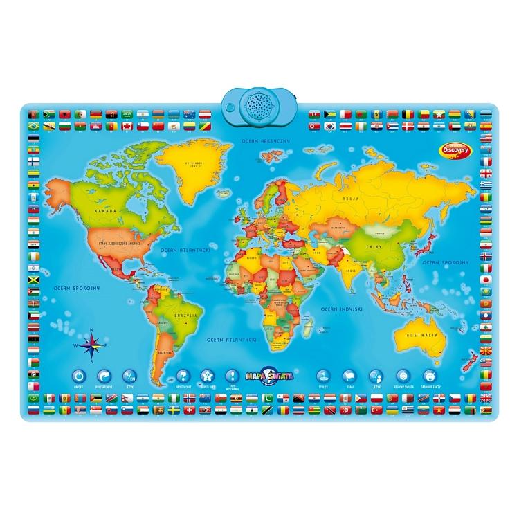 Dumel Discovery, Interaktywna mapa świata, zabawka edukacyjna