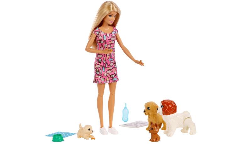 Barbie Opiekunka piesków Zestaw